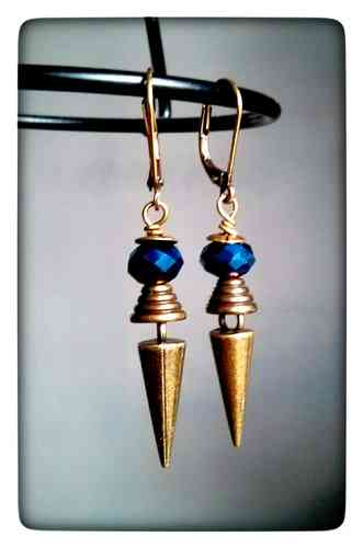 "Boucles ""Gweltaza"" bleues"